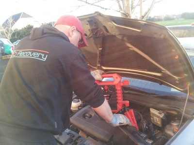 flat Car battery recovery, replacement, rescue service in dublin