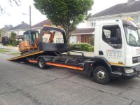 Heavy Tow, Construction machine transport on towing truck